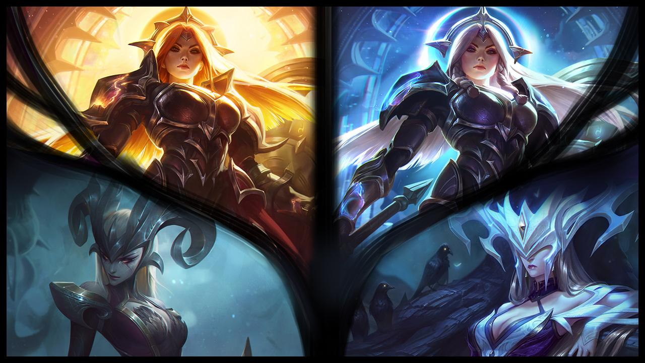 New Legendary Skins Solar And Lunar Eclipse Leona League Of Legends