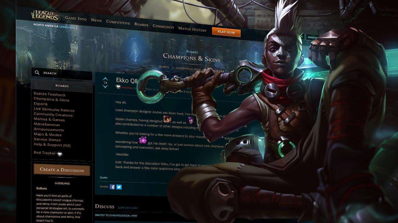 502cdfd4e Champion Q&A: Ekko, the Boy Who Shattered Time [COMPLETED]