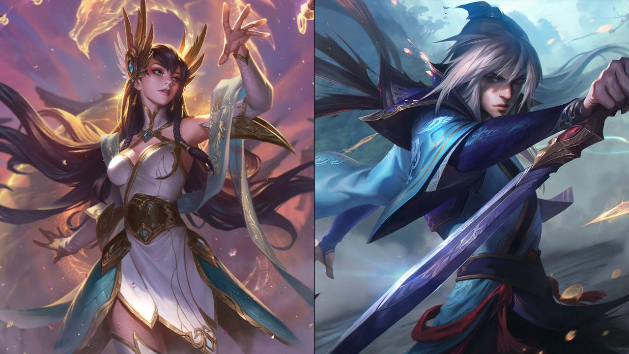 divine sword irelia and enduring sword talon league of legends