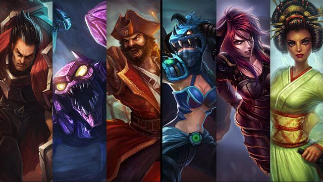 Latest Champion and Skin Sale: 11.01   11.04