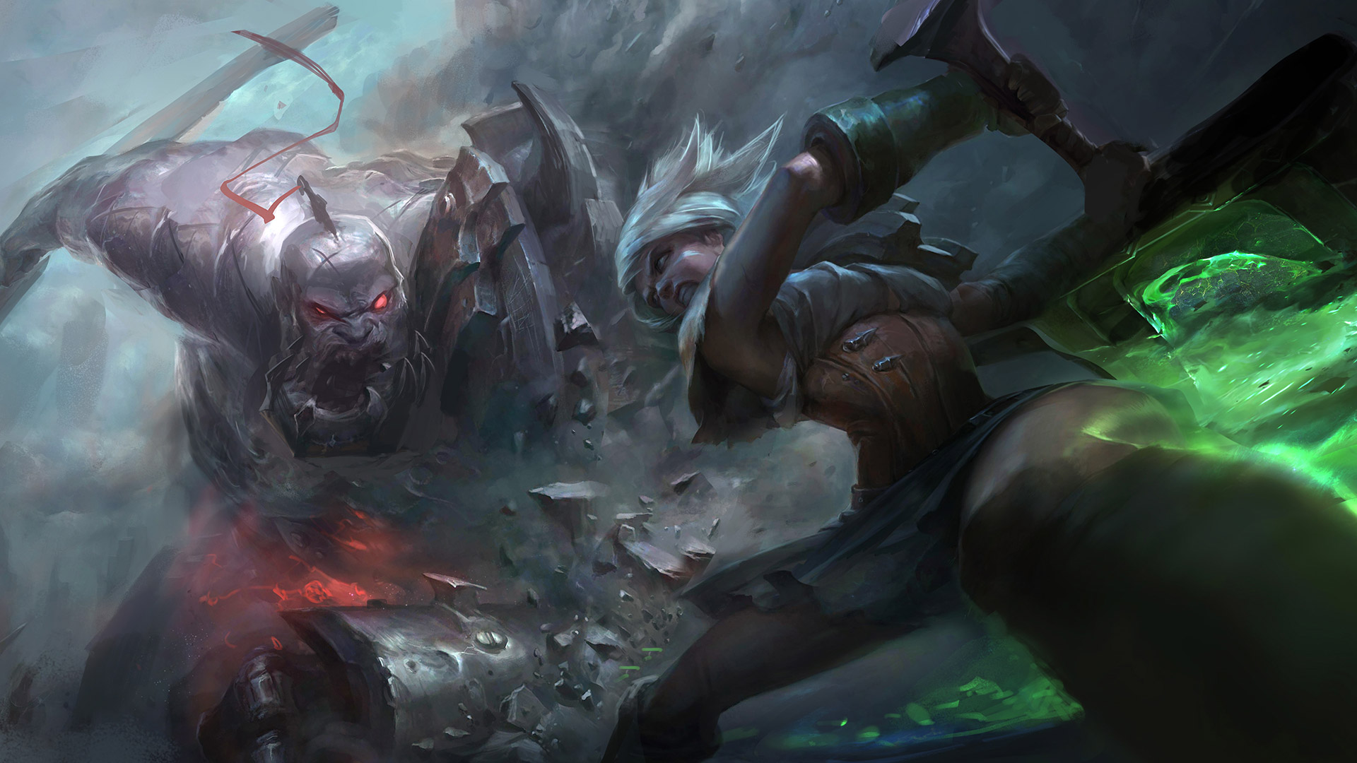 Riven Vs Sion Wallpaper 1920x1080 Version